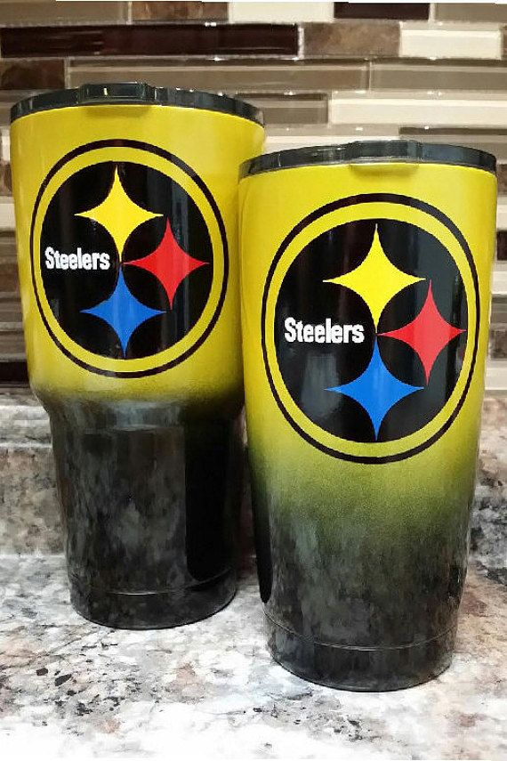 Pc Steelers Ombre Stainless Steel Rtic Ozark Or Yeti Powder