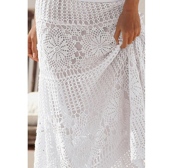 Crochet maxi skirt PATTERN, crochet TUTORIAL for every row (charts ...