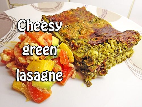 Cheap easy vegetarian cheesy green lasagne l www for All about french cuisine