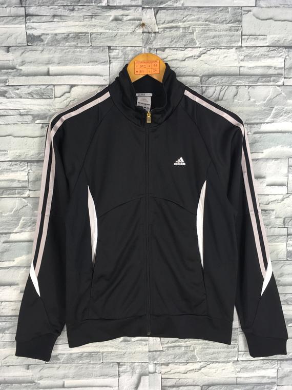4b9764bdc22 ADIDAS Tricot Jacket Women Medium Vintage 90's Adidas Equipment Sportswear  Adidas Three Stripes Fire