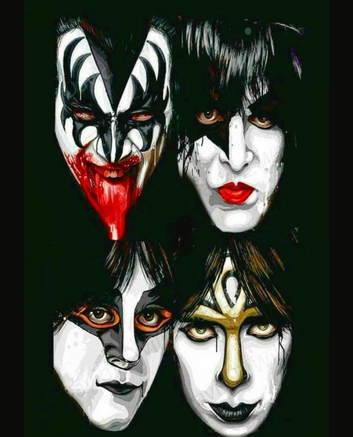 Pin By Russell Grice On Heavy Metal Rock Music Kiss Rock Bands