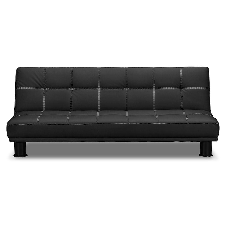 Phyllo Futon Sofa Bed Black Value
