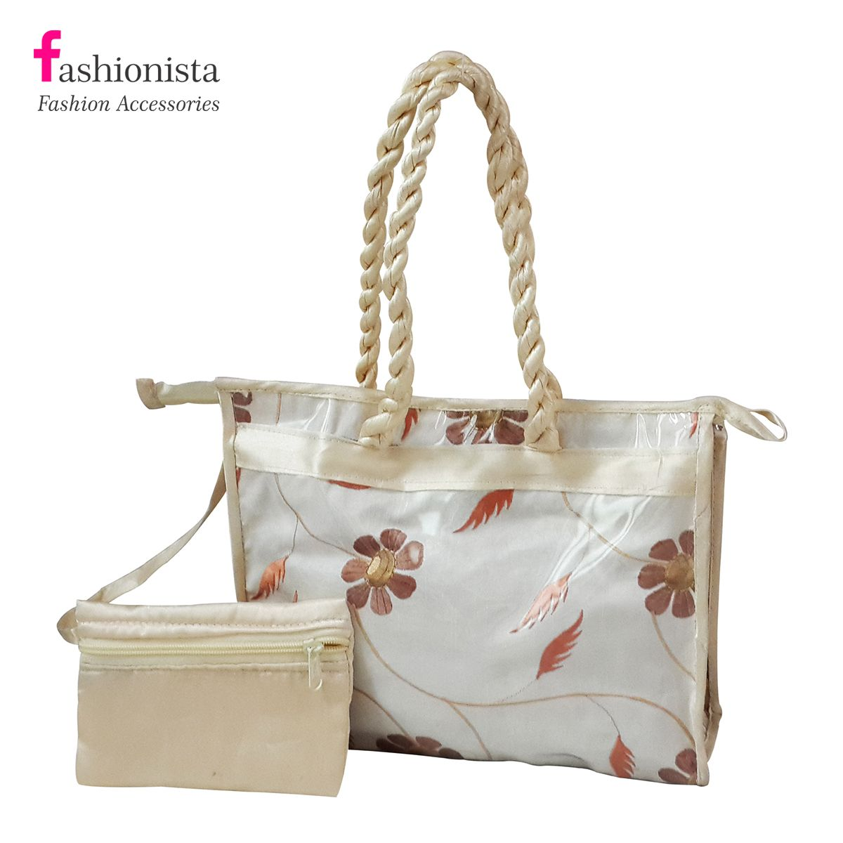 Buy Fashionista Trendy Hand Bag Raw Silk online in india at shopping adviser