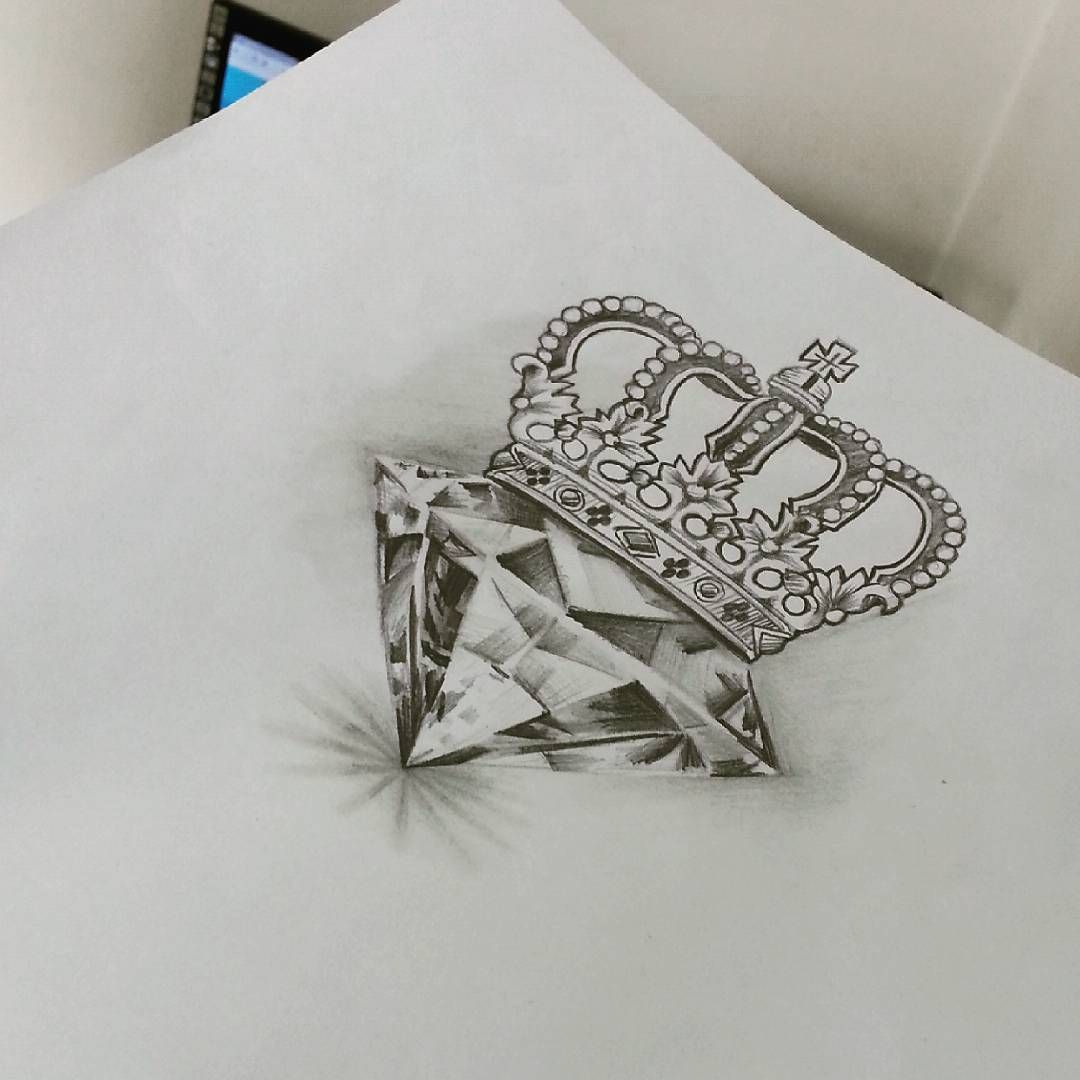 Crown tattoo on tumblr - Diamond Queen More