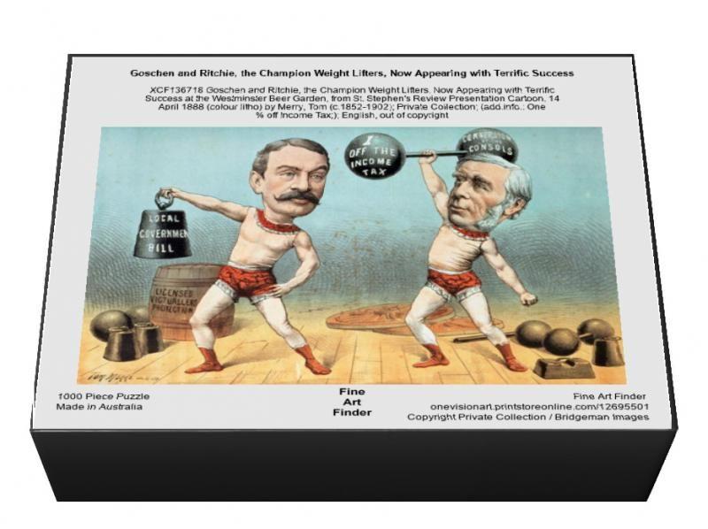 1000 Piece Puzzle. Goschen and Ritchie, the Champion Weight