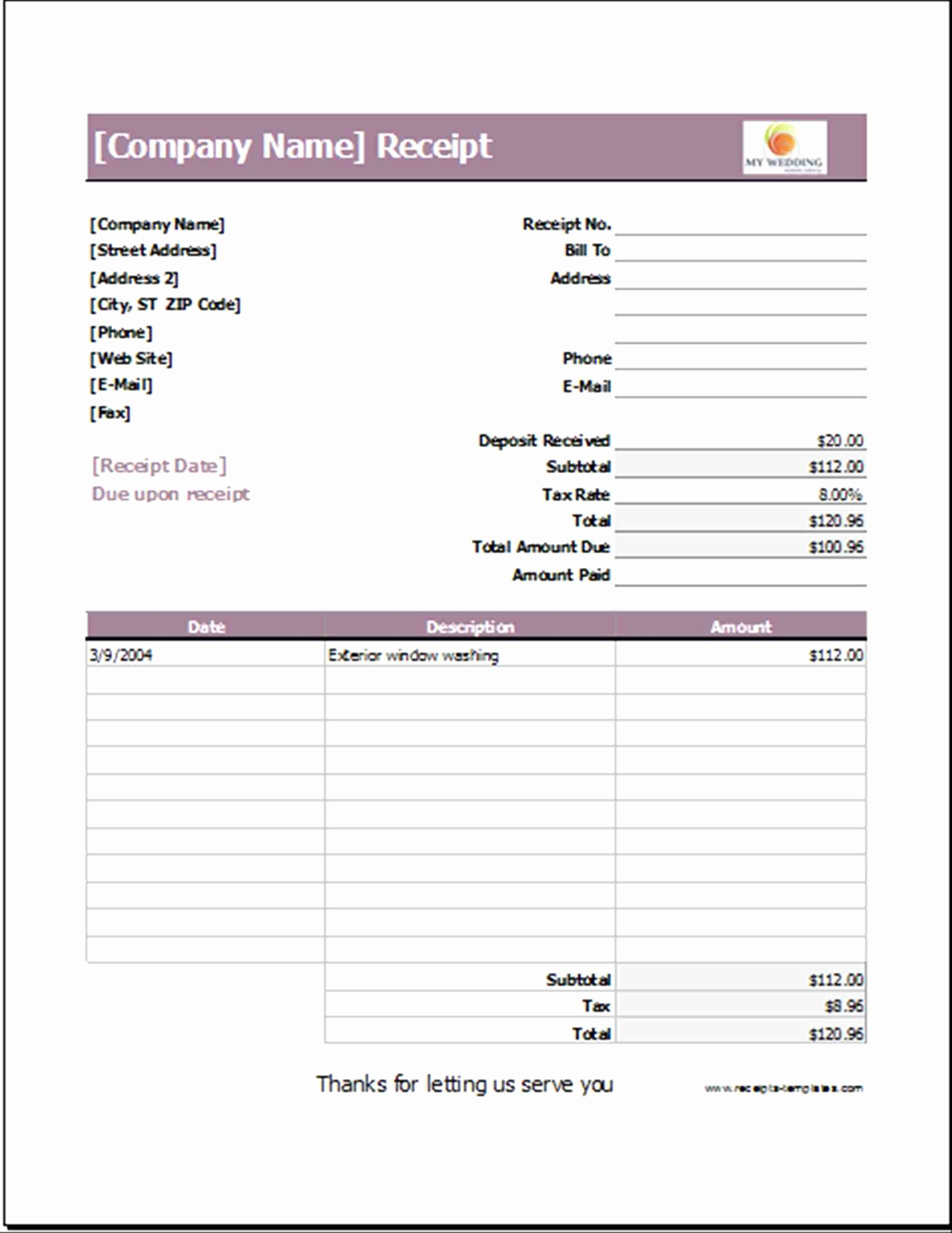 Event Planner Invoice Template Fresh With Images Receipt