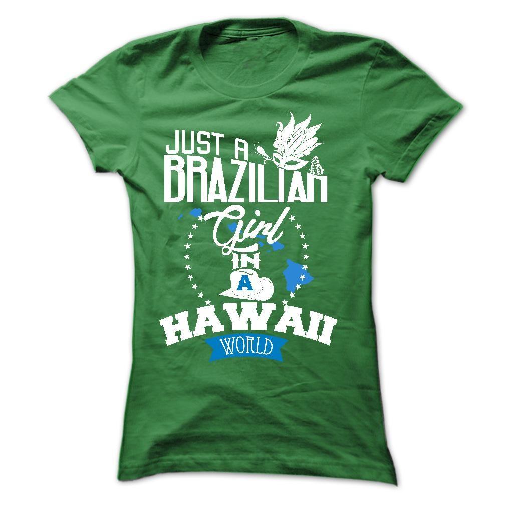 T shirt design hawaii - Brazilian Girl In Hawaii T Shirt Hoodie Sweatshirt