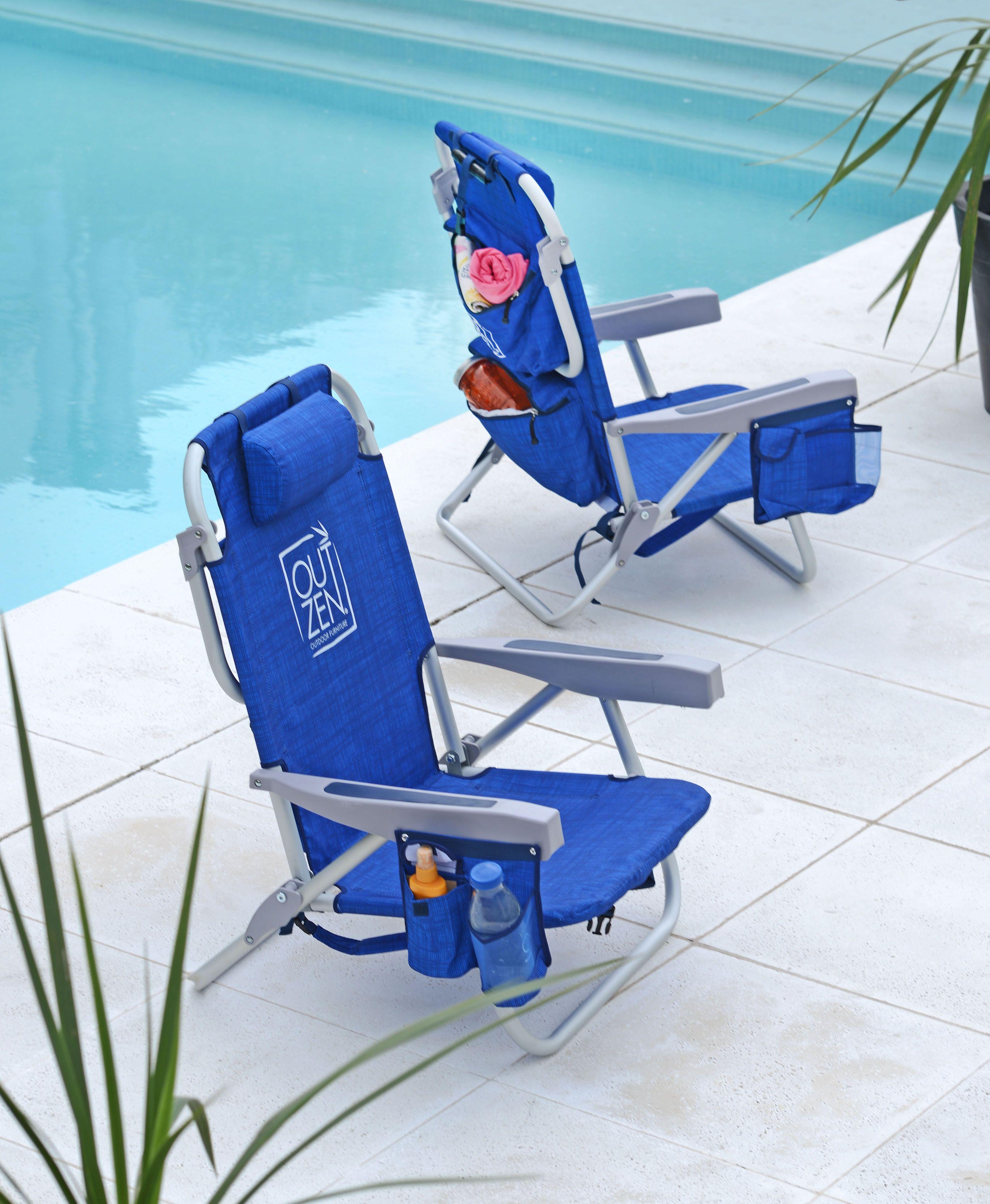 sillas terraza playa plegable extensible