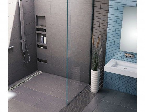 Tile Redi Barrier Free Shower Pan.Redi Trench Barrier Free Shower Pan With Back Trench Drain