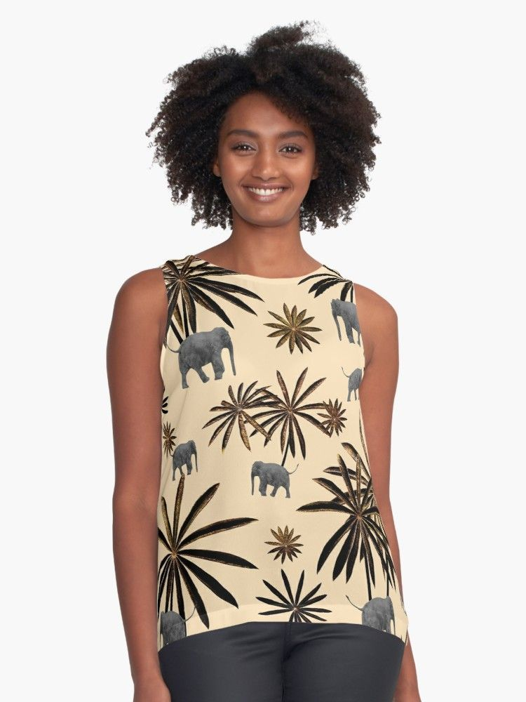 Palm Tree Elephant Jungle Pattern #3 (Kids Collection) #decor #art | Sleeveless Top #junglepattern Palm Tree Elephant Jungle Pattern #3 (Kids Collection) #decor #art Sleeveless Top by anitabellajantz | Redbubble #junglepattern
