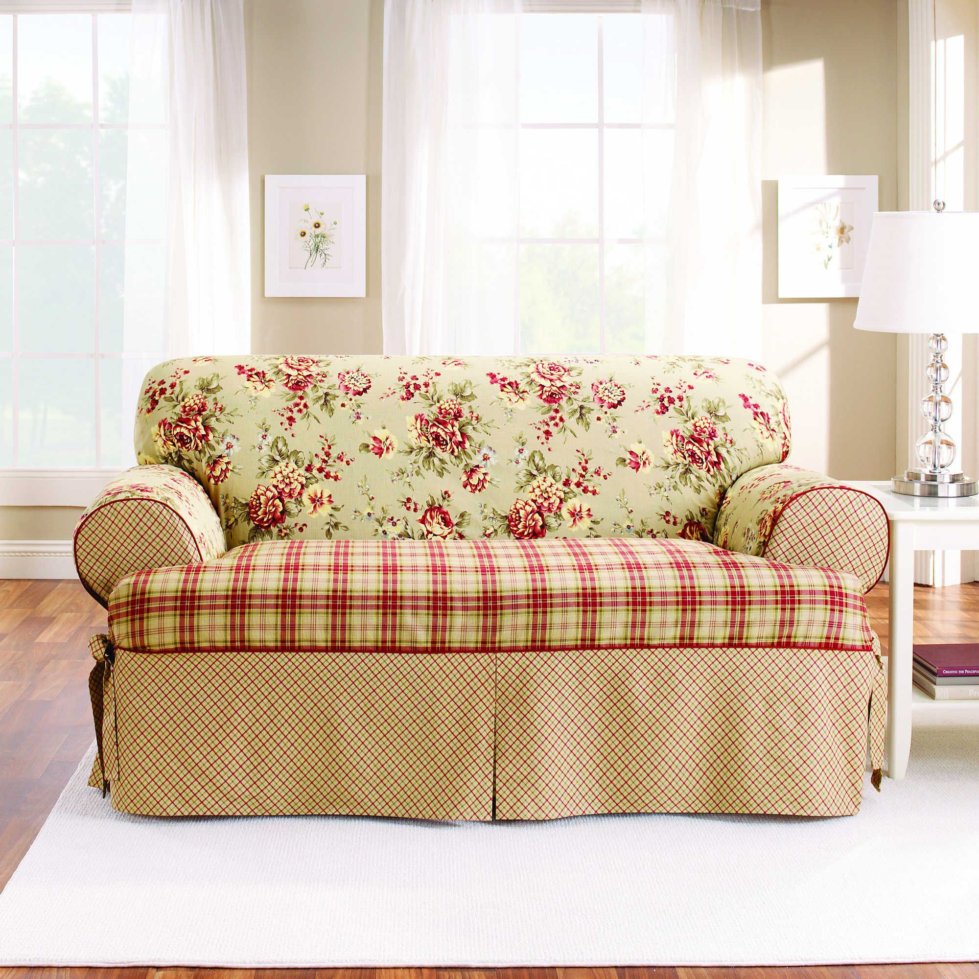 Sure Fit Lexington T Cushion Sofa Protector
