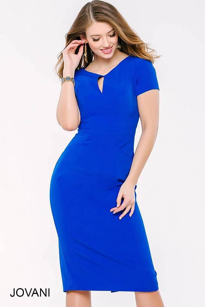Royal Blue Dress Below Knee