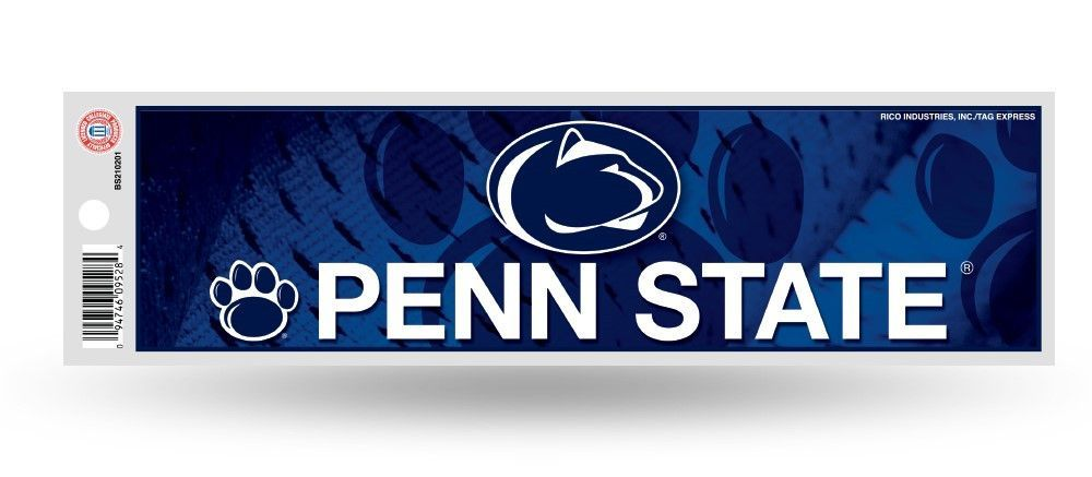 Penn State Nittany Lions Bumper Sticker New 3 X 11 Inches