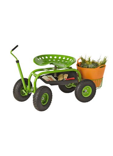 Deluxe Tractor Scoot With Bucket Basket Flowers And Gardens Pretty