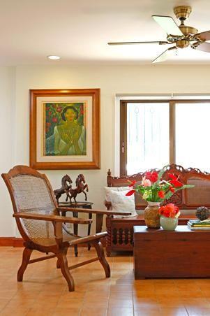 Filipino Colonial Furniture Pieces And Verdant Tropical Plants Fill A Sprawling Fa Filipino Interior Design Traditional Interior Design House And Home Magazine