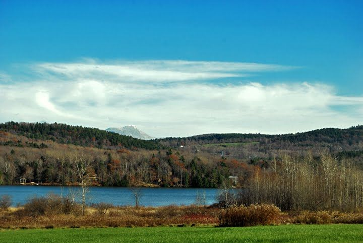Lake Iroquois in Williston Vermont and a view of Camel's Hump.