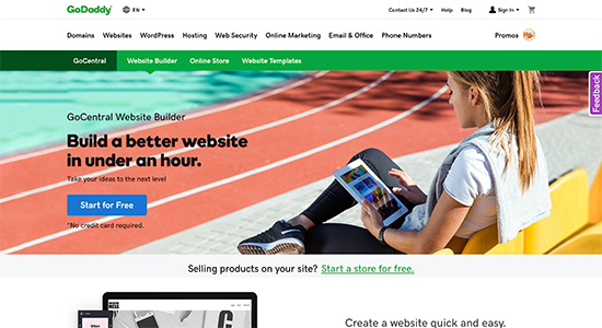 GoDaddy Website Builder in 2020 Free website hosting