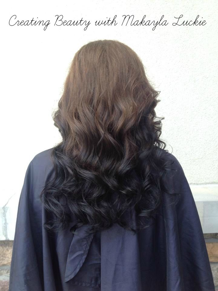 Reverse Ombre Light Brown Color To Dark Brown Color The