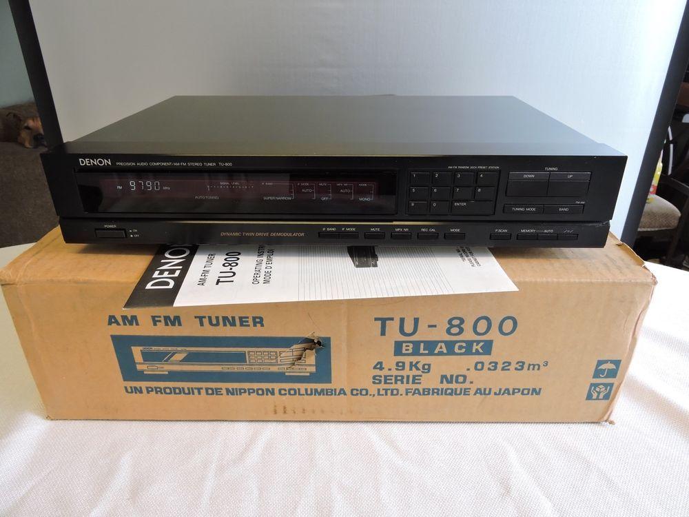 Denon TU-800 AM / FM Stereo Tuner IOB w/ Manual #Denon | Stereos