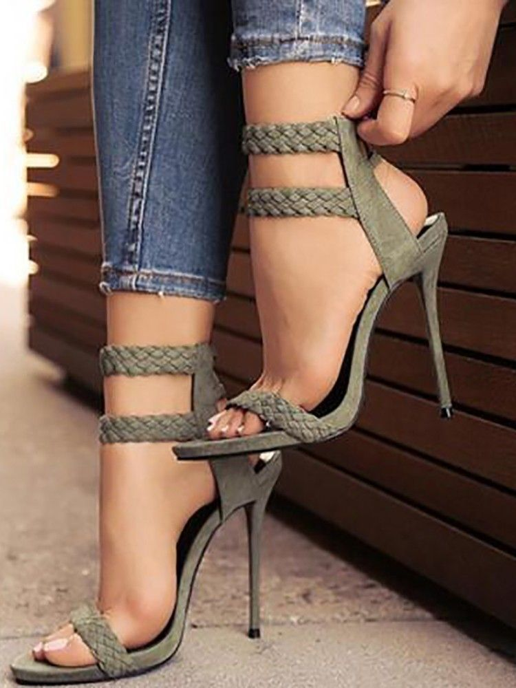 Peep Toe, Ankle Strap Sexy High Heels, Choose from 3
