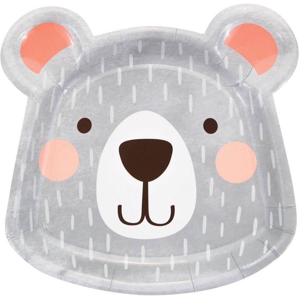 24ct Bear Shaped Dinner Plates