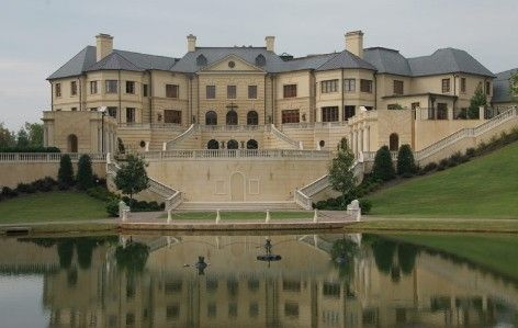 Wow!  $50,000,000.00, 46,000 sq. ft.  Georgia home in foreclosure ~ Le Reve {The Dream} ~ reduced to16.75 Million $ ~ Read that the estate sold in Oct. 2011 for 11.5 Million $. {click photo to go to link where you can see realtor's video of this home} ~ incredible