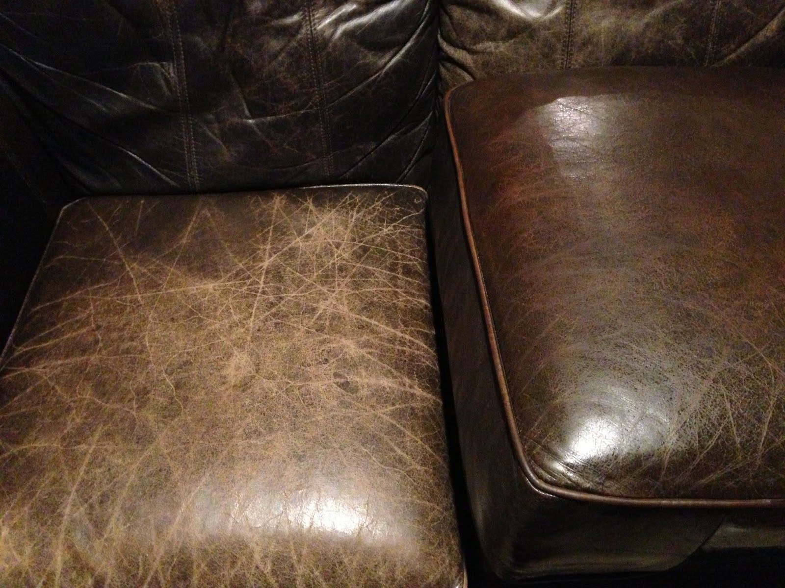 Down Vintage Lane Dried Out Leather Sofa Fix Up