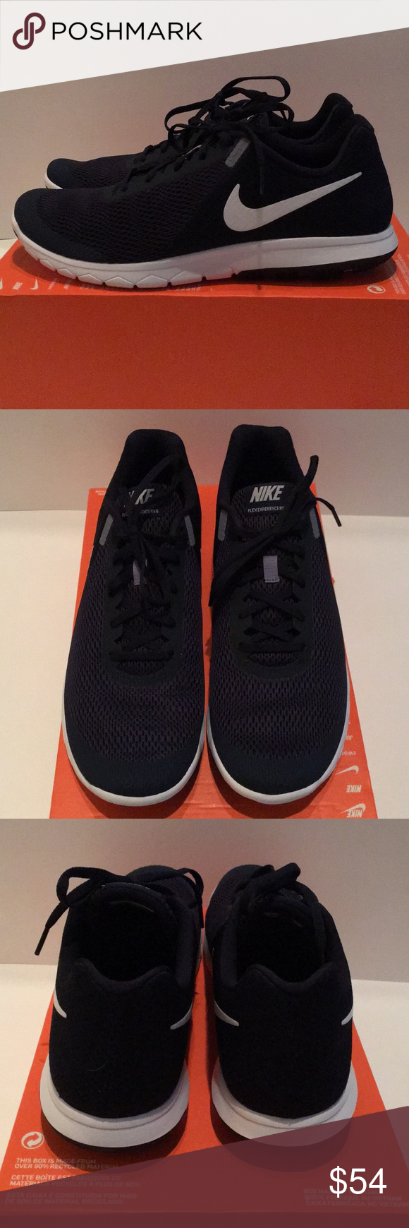 850d322dcbf8 NEW Nike Running Shoes Sz. 12.5 Brand new men s navy and white Nike Flex  Experience RN 6 Running Shoes size 12.5! Nike Shoes Athletic Shoes