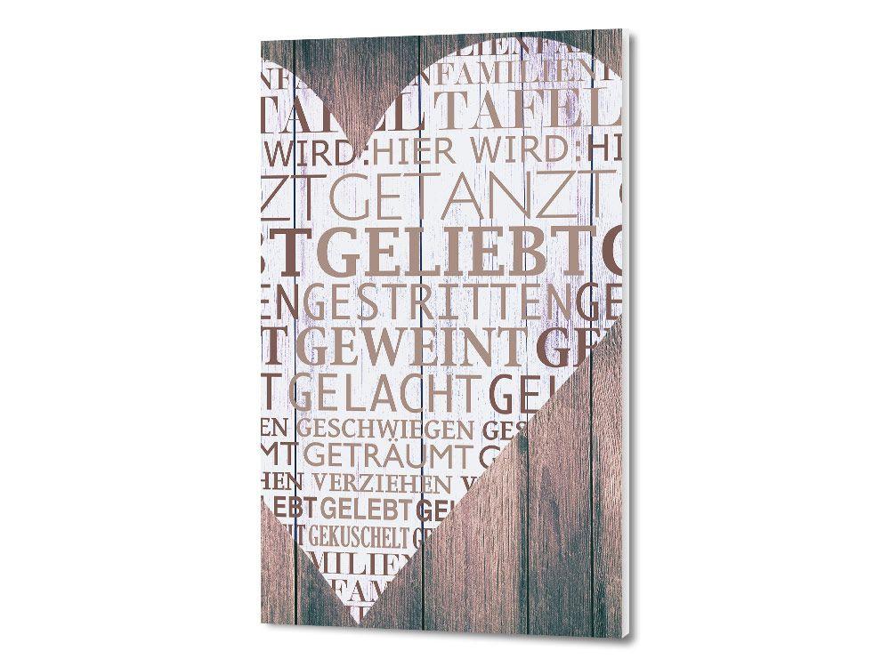 #Wandbild #Sprüche Für #Wohnzimmer Wörter Herz Geliebt #Schlafzimmer  #Wanddeko