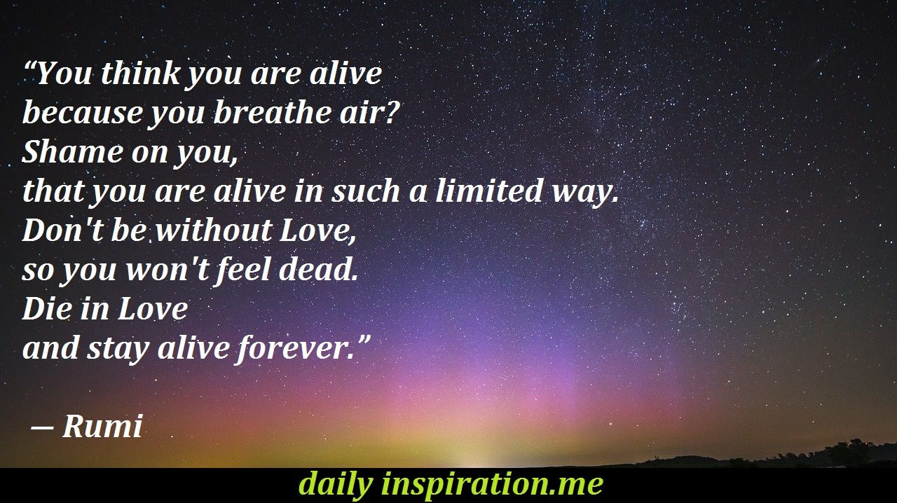 Inspirational Rumi love quotes Logical Quotes