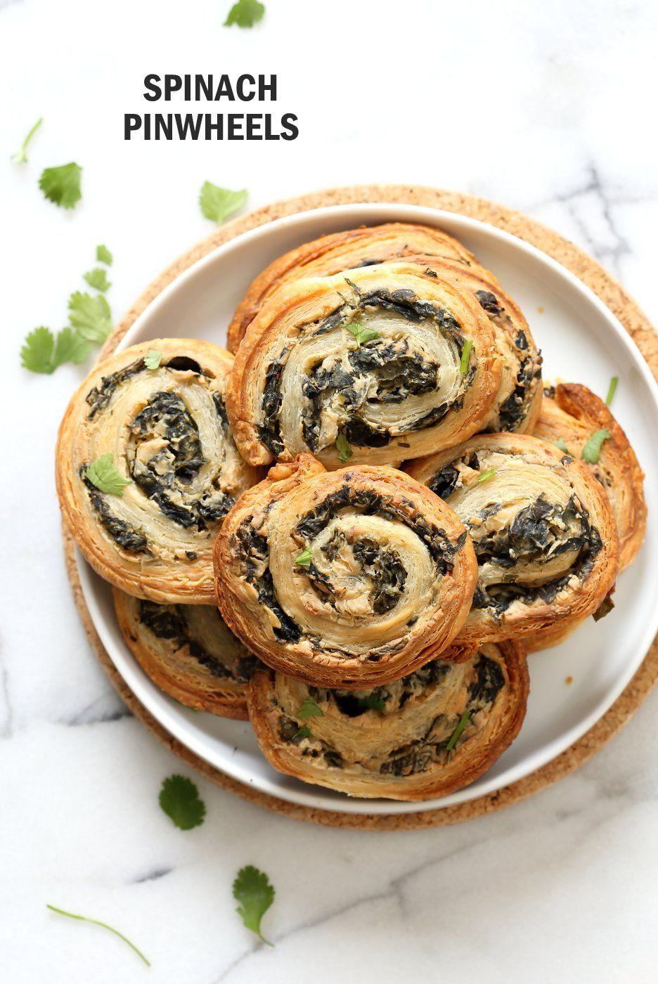 Vegan Spinach Cheese Pinwheels