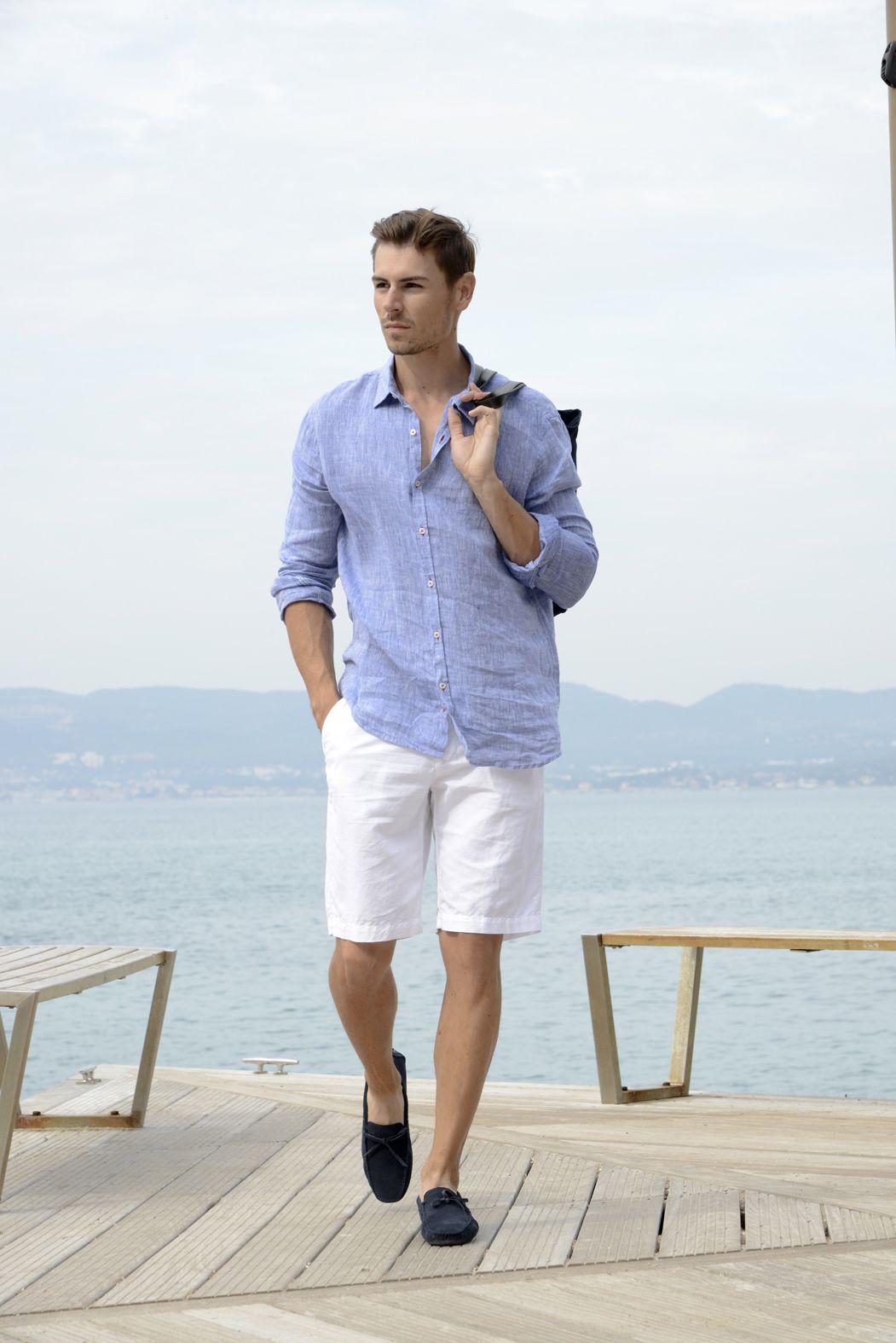 Beach chic en EUROPANN Mens Cruise Outfits, Mens Fashion Summer Outfits,  Cruise Attire,