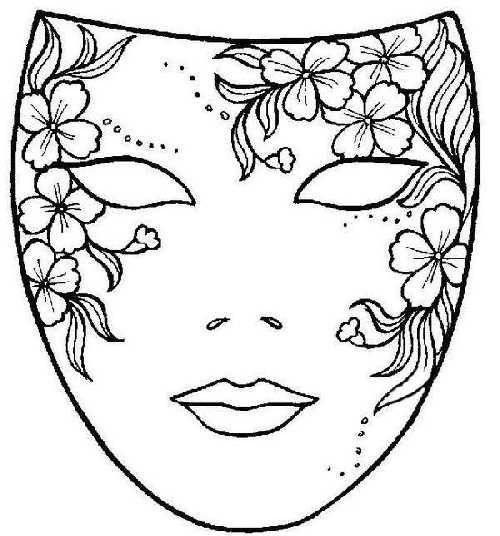 Dibujo Mascara De Carnaval Con Flores Mascaras Carnaval Mascaras Dibujo Mascaras Para Pintar
