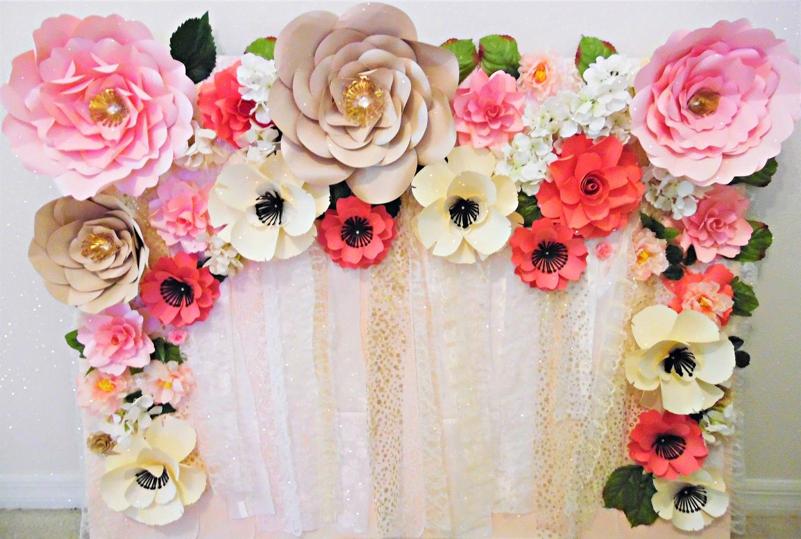 Mama S Gone Crafty Easy Paper Flower Backdrop Assembly Crafts