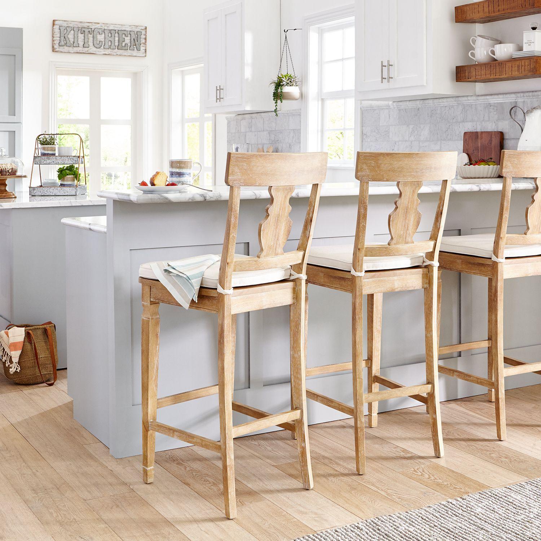 Bradding Natural Stonewash Counter Bar Stool Bar Stools Farmhouse Bar Stools Home Decor Kitchen