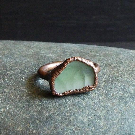 Ring Raw Tourmaline Crystal Gemstone Pastel Pale by MidwestAlchemy