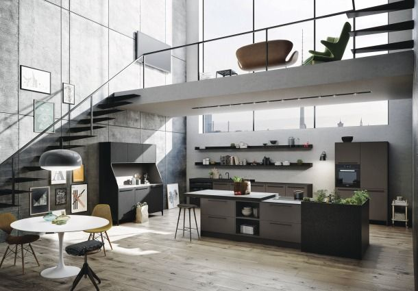 Apartment MM - Picture gallery loft spaces Pinterest - bilder offene küche