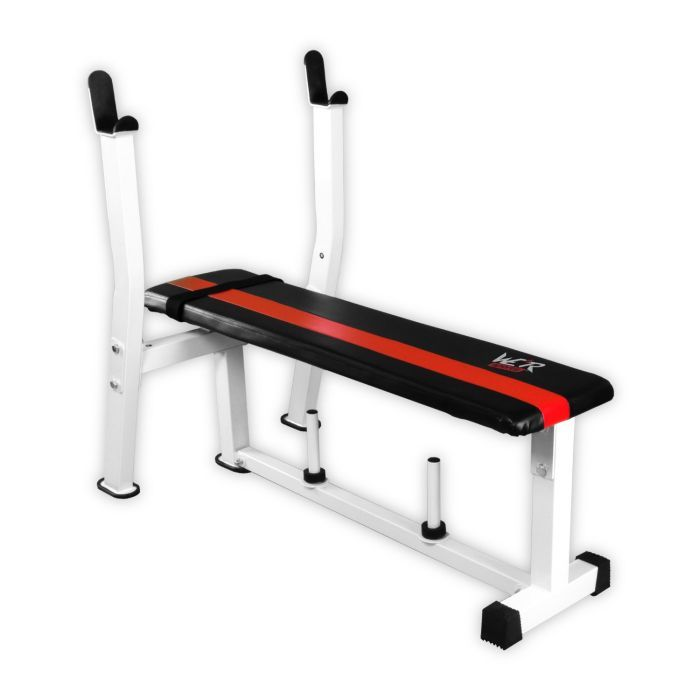 We R Sports Flat Weight Bench Heavy Duty 14 Gauge Steel Tube Frame High Density Box Stitched Upholstery Ru Weight Benches Sport Flats Plate Storage
