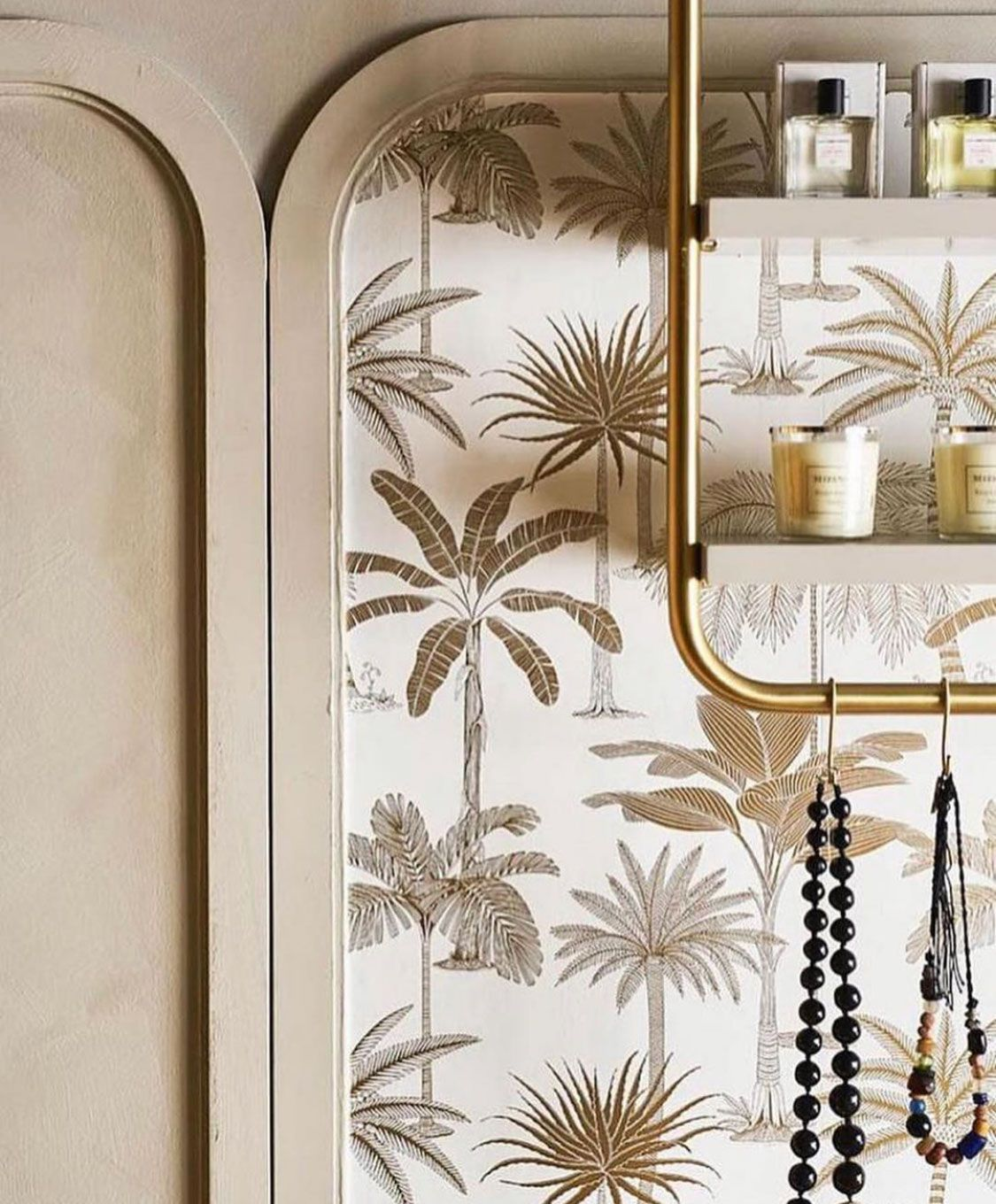 Gold Is The New Neutral These Gorgeous Golden Palm Trees Will Give You Easy Going Glimmer And Glam For Days Golden Palm Tree Palm Tree Wallpaper Wallpaper