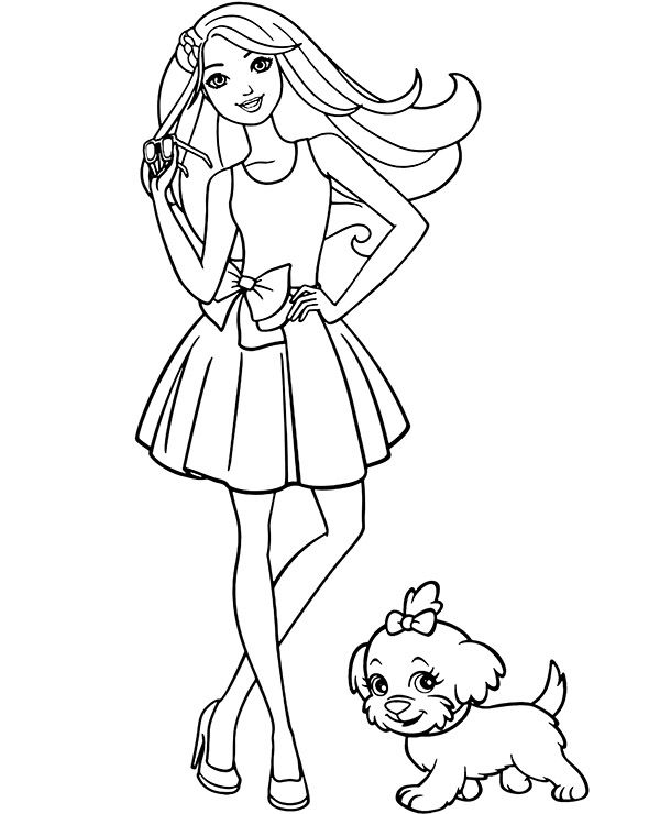 Barbie Dogs Coloring Pages