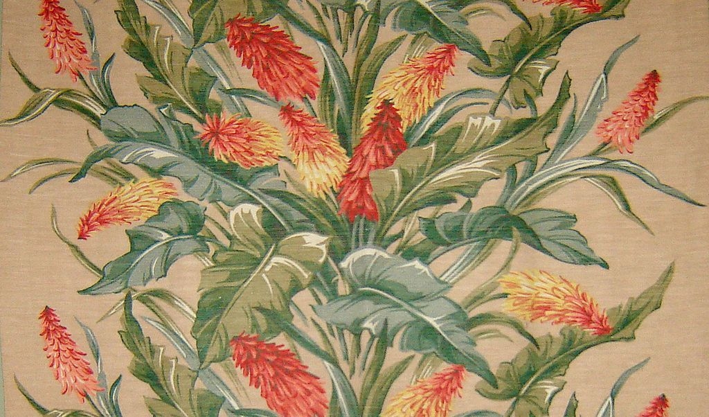 1940 S Upolstery Material Vintage Drapery Fabric Panel With