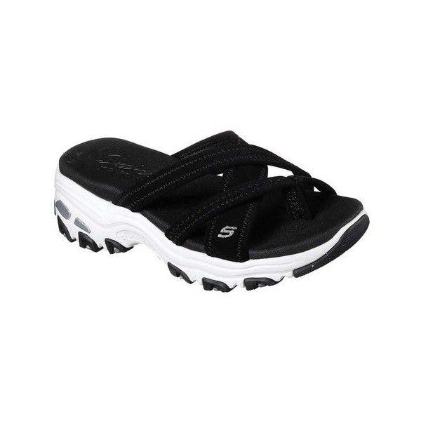 Women's Skechers D'Lites Think Fast Toe Loop Sandal ($55) ❤ liked on