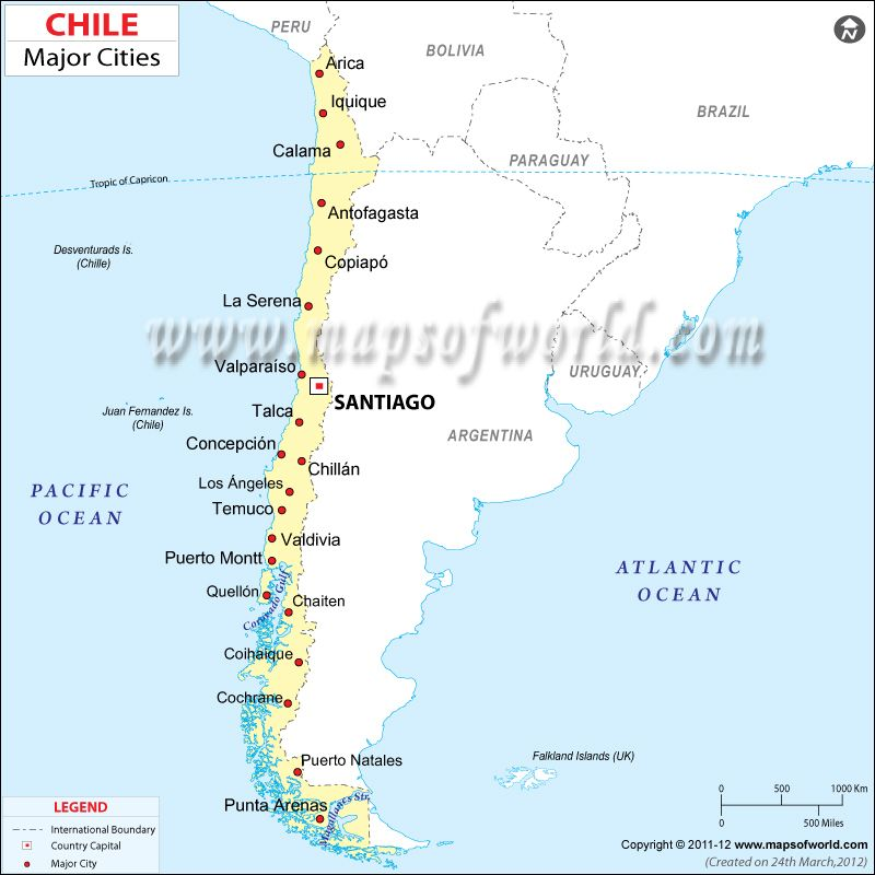 Map Of Chile With Cities Chile Cities Map | travel | Map, Chile, Driving maps