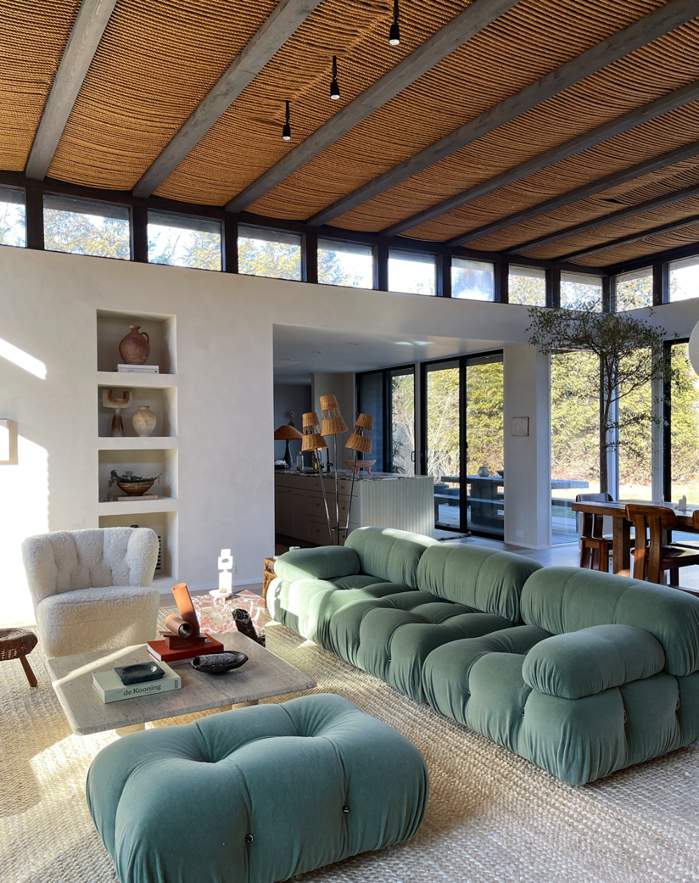 Photo of How Athena Calderone Created the Rope Ceiling in Her Amagansett Home