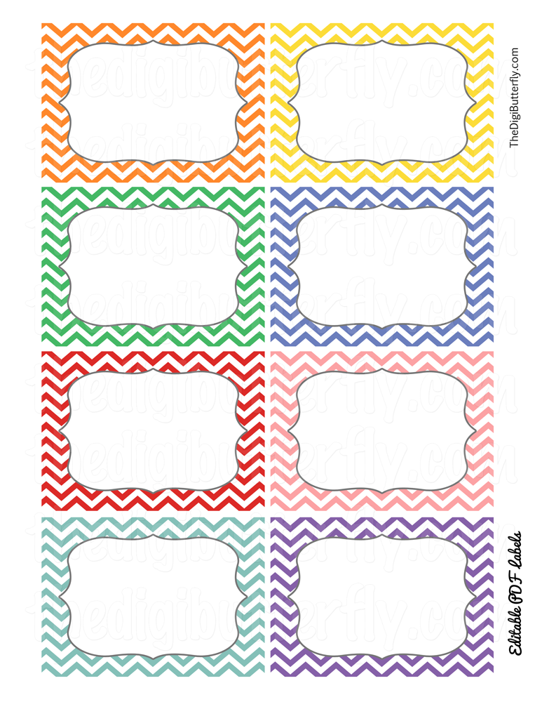 Print Candee - School Chevron Editable Labels - FREEBIE , $0.00 ...