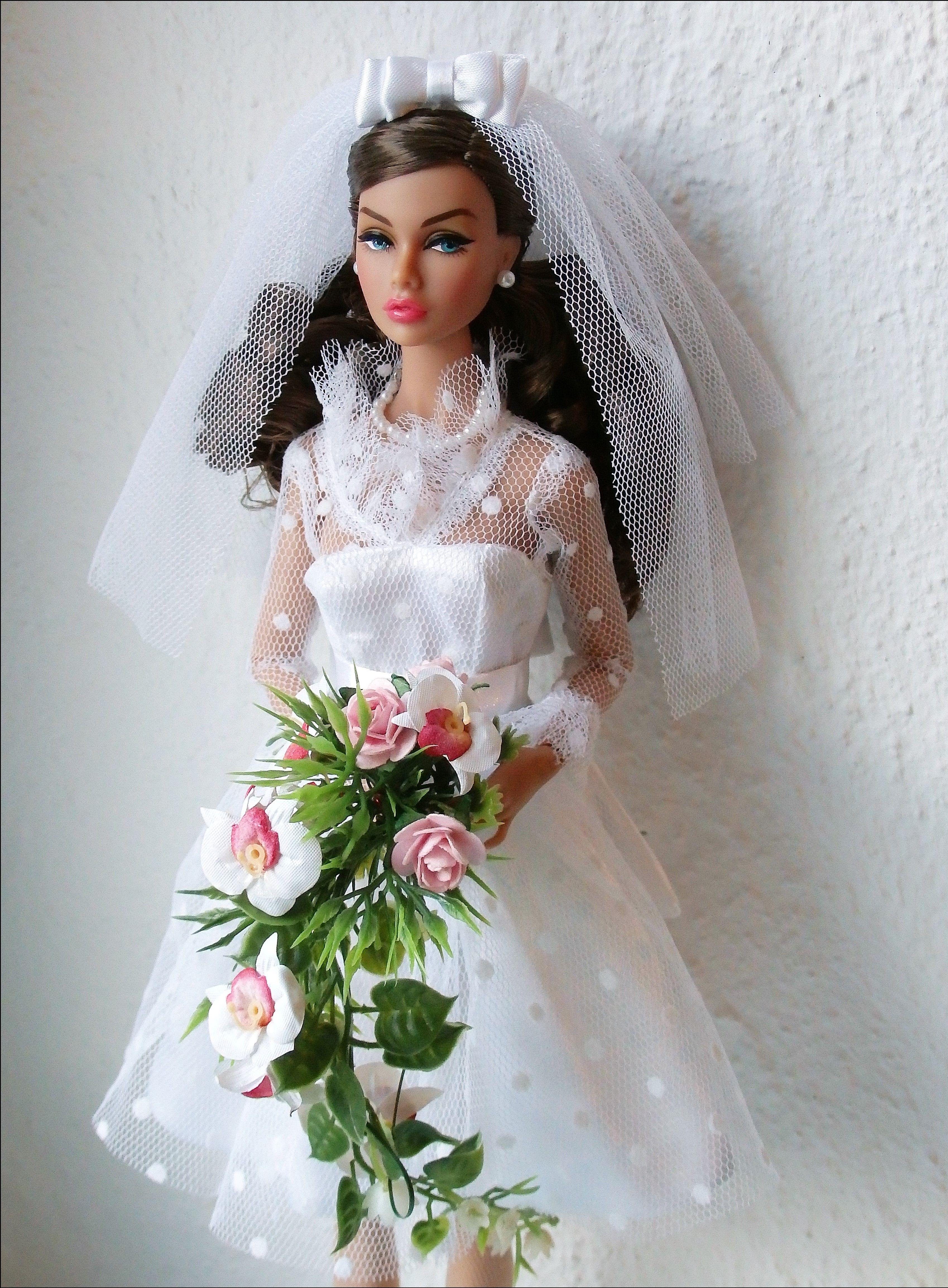 Doll wedding dress   Jasmin Lau  bride dolls  Pinterest  Dolls Barbie