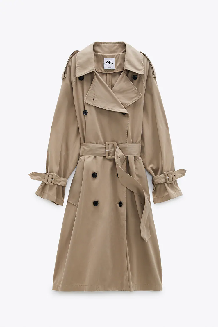 Limited Edition Water Repellent Trench Coat Zara United States Trench Coat Trench Coat Outfit Collar Trench Coat