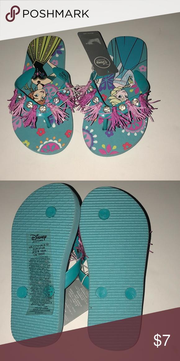 65d2a96b9701 Disney princess Ana Elsa flip flops sandals 11 12 Brand new with tags Disney  Shoes Sandals   Flip Flops