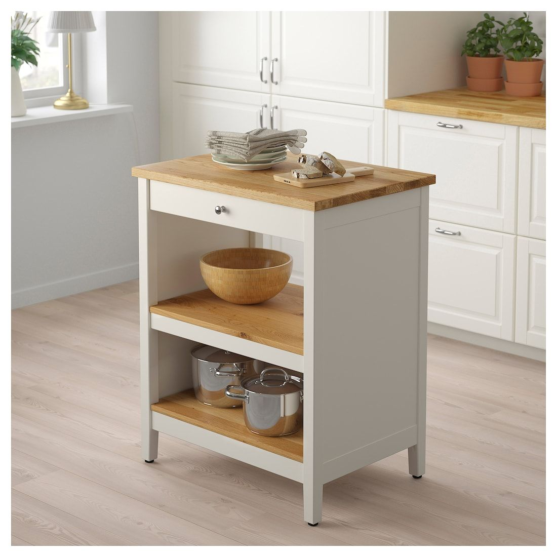 Tornviken Kitchen Island Off White Oak Width 28 3 8 Ikea Freestanding Kitchen Island Grey Kitchen Island Ikea Kitchen Island