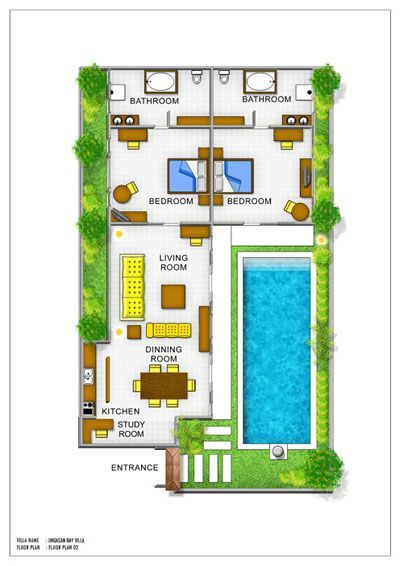 Balinese Villa Floor Plans Joy Modern House Floor Plans Pool House Plans One Storey House